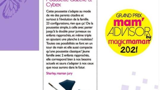 Cybex Grand prix mam advisor